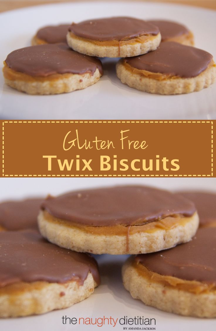 These Gluten Free Twix Biscuits are a genius idea. They're a shortbread biscuit topped with caramel and chocolate. Definitely worth making! | www.thenaughtydietitian.com | Twix | Twix Biscuits | Gluten Free Biscuits | Gluten Free Recipes | Easy Gluten Free Recipes | Gluten Free Twix | Easy Gluten Free Cookies | Cookie Recipes | Gluten Free Cookie Recipes | Chocolate | Caramel