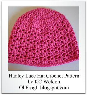 Pattern - Hadley Lace Hat - free pattern to match stitch ...