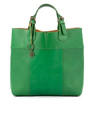 Pieces Premium Green Leather Tote  £89.99