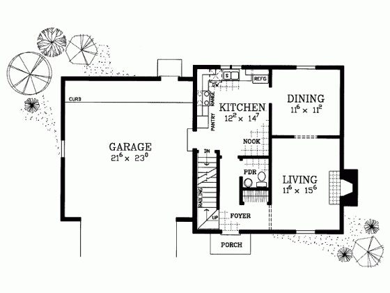 Colonial House Plan 1400 Sq Ft Burkland Living Room Etc