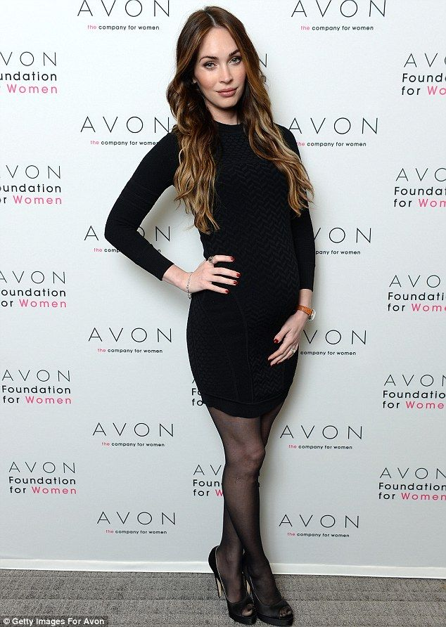 Generous: Megan Fox, looking hardly pregnant at an Avon event on November 22, told UsWeekly she never tips less than $20, ever