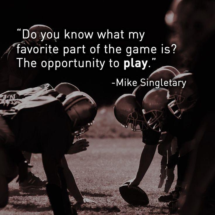 Mike Singletary #Football #Quotes #TinCanApparel