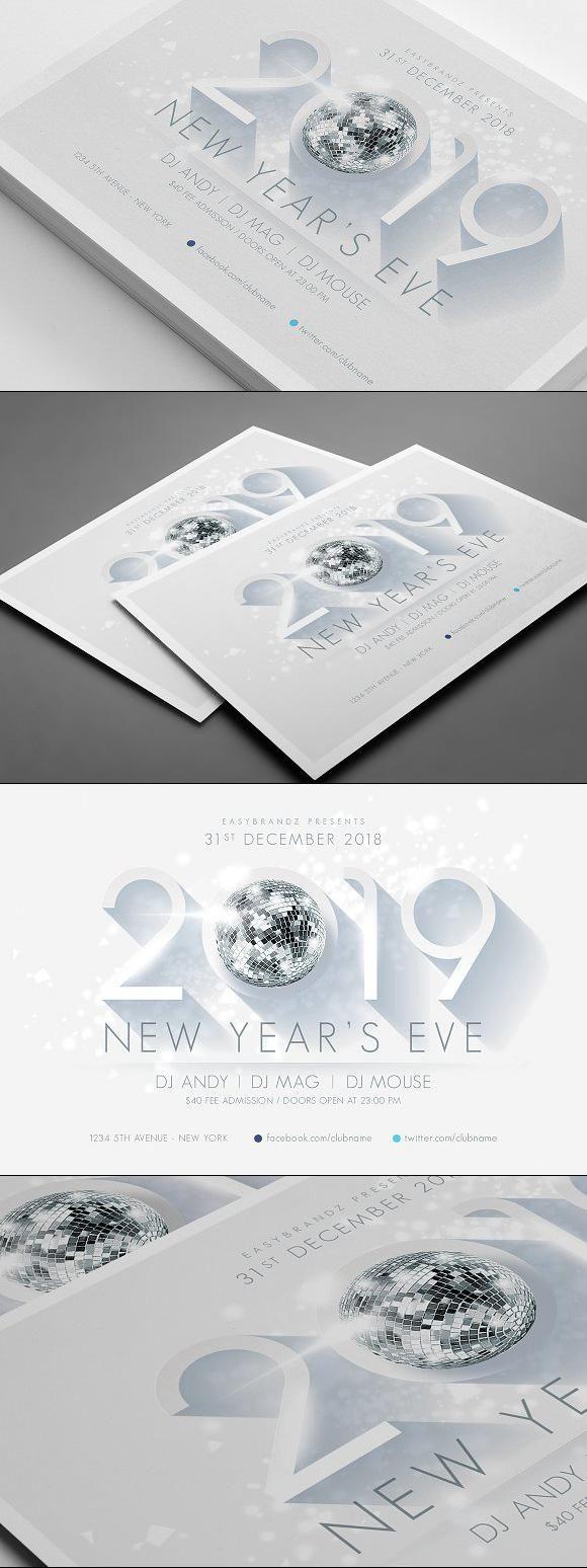 2019 New Years Flyer Template for $9.00 #flyer #FlyerDesign ...