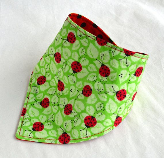 Reversible Ladybugs and Polkadots in a Reversible and Absorbant Design - Summer Print for a Baby Shower Gift for a Baby Girl
