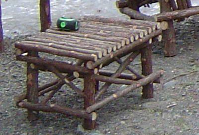Rustic Cedar Twig Footstool Handcrafted Handmade Log Home