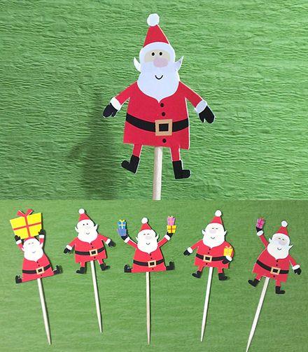 クリスマス向け 可愛いサンタクロースの手作りピック素材