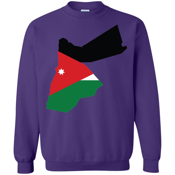 Jordan flag Printed Crewneck Pullover Sweatshirt 8 oz