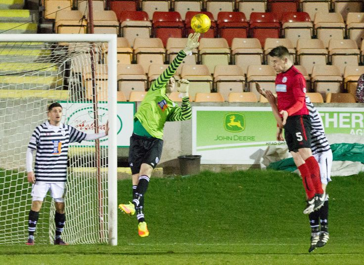 Queen's Park's Wullie Muir in action during the Ladbrokes League One game between Brechin City and Queen's Park.