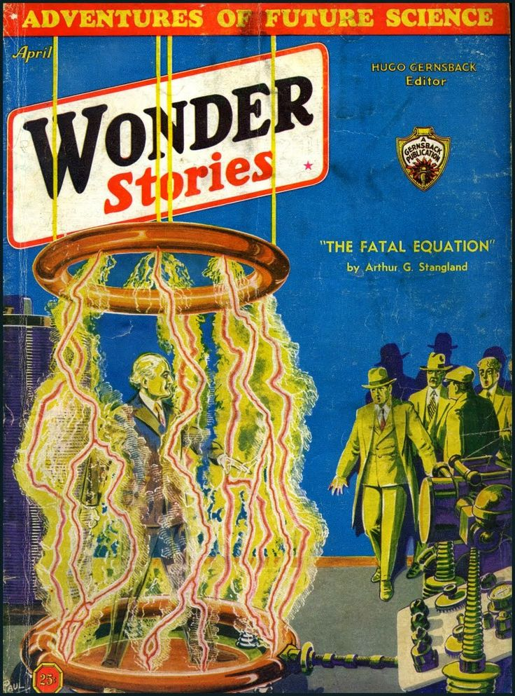Wonder Stories, April 1933, cover by Frank R. Paul