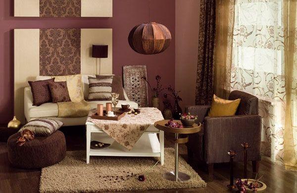 Картинки по запросу коричневый диван в гостиной