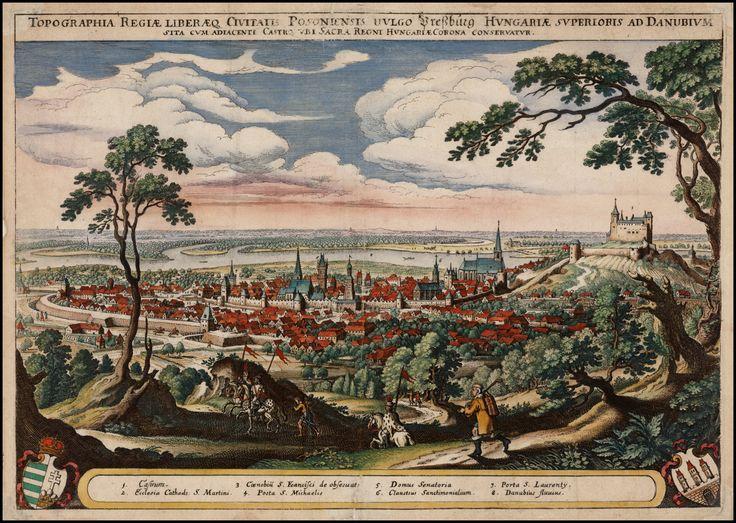 Bratislava (former Pressburg) Merian around 1638