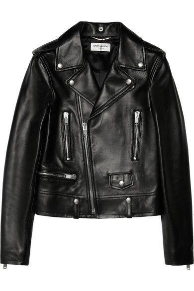 Saint Laurent Leather Jacket #SaintLaurent #Leatherjacket #Bikerjacket