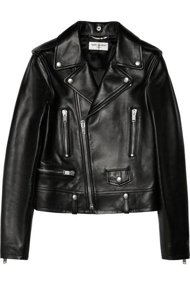 Saint Laurent Leather Jacket #SaintLaurent #Leatherjacket #Bikerjacket