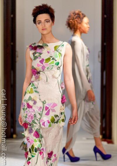Eva dress, hand painted, unique