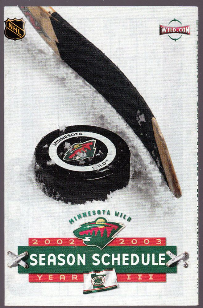 2003-04 MINNESOTA WILD PONTIAC GRAND AM HOCKEY POCKET SCHEDULE FREE SHIPPING #Pocket #SCHEDULE