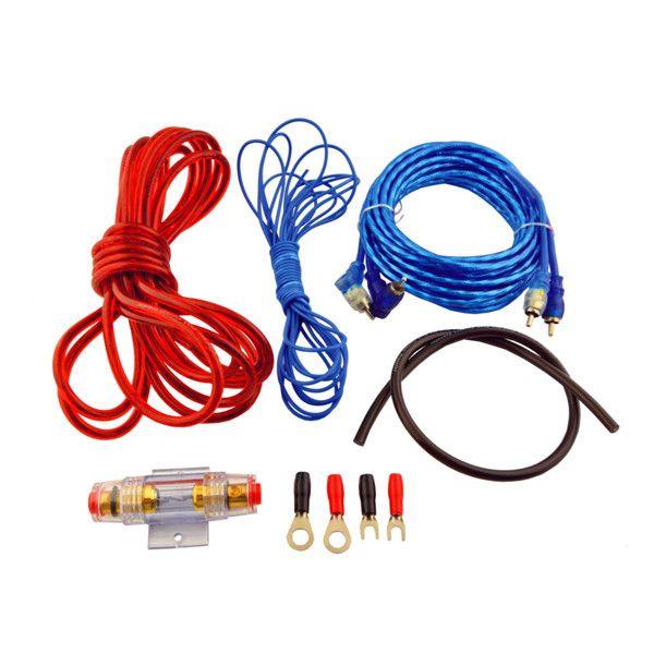 500w Coche Automatico Cable Rca A Los Cables Kit Amplificador De
