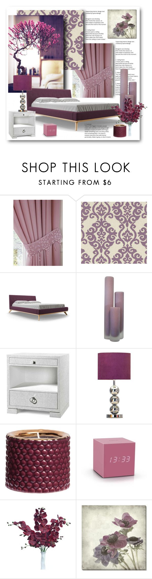 """""""Purple Kinds of Beautiful!"""" by bliznec ❤ liked on Polyvore featuring interior, interiors, interior design, home, home decor, interior decorating, Waverly, Joybird Furniture, Bungalow 5 and H&M"""
