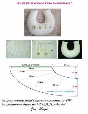 ARTE COM QUIANE - Paps,Moldes,E.V.A,Feltro,Costuras,Fofuchas 3D: Molde Almofada Amamentação