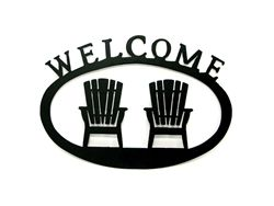 muskoka chair welcome sign cottage ideas pinterest