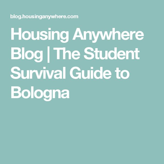 Housing Anywhere Blog | The Student Survival Guide to Bologna