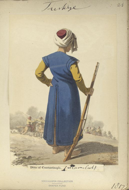 Soldier of Mameluk. The Vinkhuijzen collection of military uniforms / Turkey, 1818. See McLean's Turkish Army of 1810-1817.