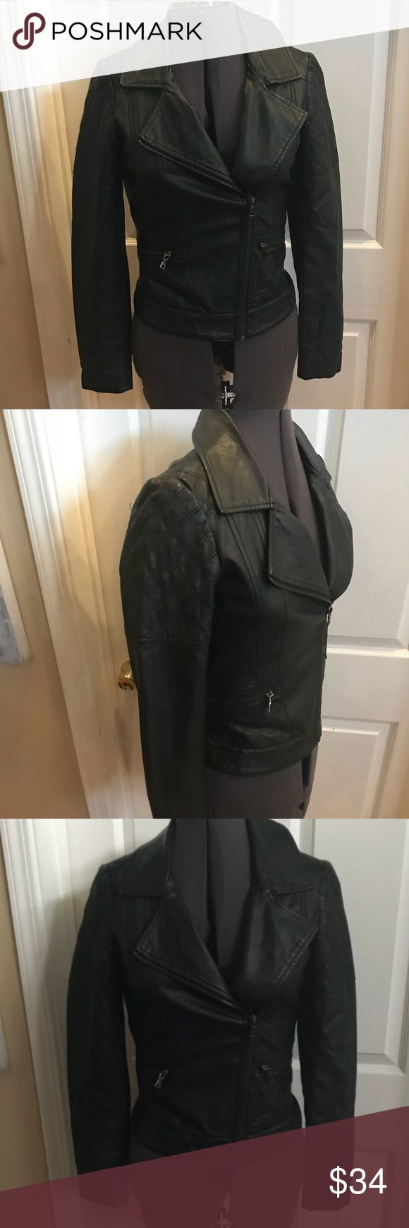 Oasis moto black jacket size xs Oasis moto black jacket size xs. Vegan leather Oasis Jackets & Coats