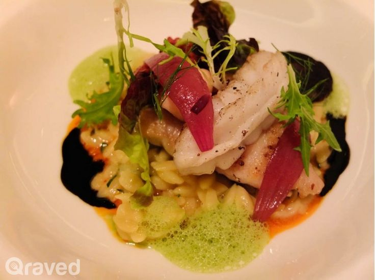 Wild Garoupa Fillet with Rock Octopus and Squid at Lyon Restaurant