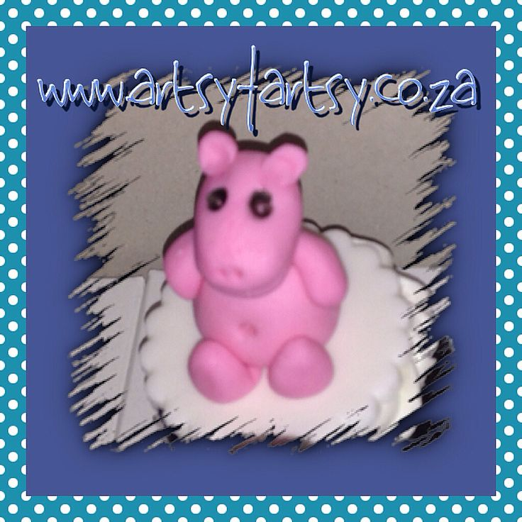 3D Hippo Cupcake Topper