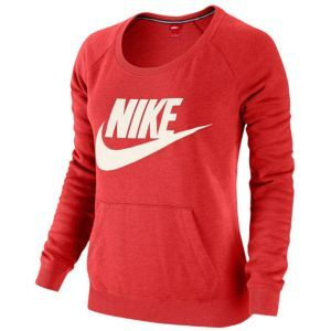 Nike Rally Crew - Women's - Fusion Red Heather/Sail