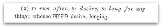 Teshuqah: A Woman's Desire in Genesis 3:16