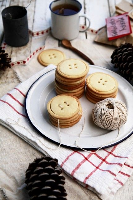 Shortbread Button Cookies