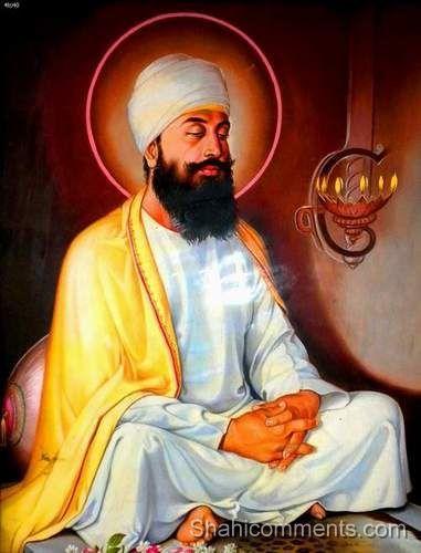 Guru Teg Bahadur Ji- Ninth Guru of Sikh Religion, Reluctant to leave meditation and come forward as guru, ultimately sacrificed his life to protect Hindu Pandits from forced conversion to Islam. PARANTS'S NAME: Guru Hargobind Ji, Mata Nanki Ji PLACE DOB: Amritsar, April, 1, 1621 WIFE NAME: Mata Gujri Ji SON DAUGHTERS: Gobind Singh Ji GURSHIP YEARS: 13 Years CONTEMPORARY EMPEROR: Aurangzeb (Moghal Emperor) MARTYRED PLACE YEAR/AGE: Delhi / Nov., 11, 1675/54Years.