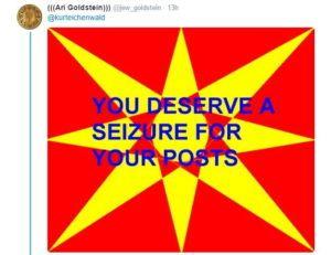 Twitter usado para causar ataque epilético a jornalista