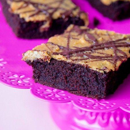 Brownies vegan mit Kaffee und Erdnussbutter