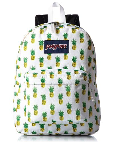 JanSport Superbreak Multi Tropic Gold Backpack. Pineapple School Bag. Back to school supplies for teens.