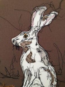 free-hand machine embroidery. Karen Hall