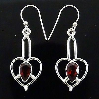 925 Sterling Silver Jewellery Garnet Earring Fashion Jewelry Buy Online 2.73 GM | eBay