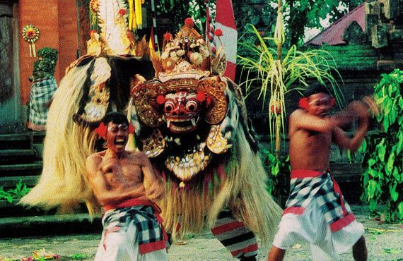 Barong is a character in the mythology of Bali.