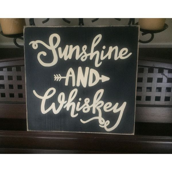 Sunshine and Whiskey Arrow Sign Southern Country Song Lyrics Quote... ($27) ❤ liked on Polyvore featuring home, home decor, wall art, black, home & living, home décor, wall décor, wall hangings, painted wood signs and wooden wall art