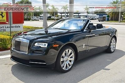 2017 Rolls-Royce Other Dawn 21 Forged 10-Spoke Polished Teak Deck Seat Piping Monograms Seashell Ventilated
