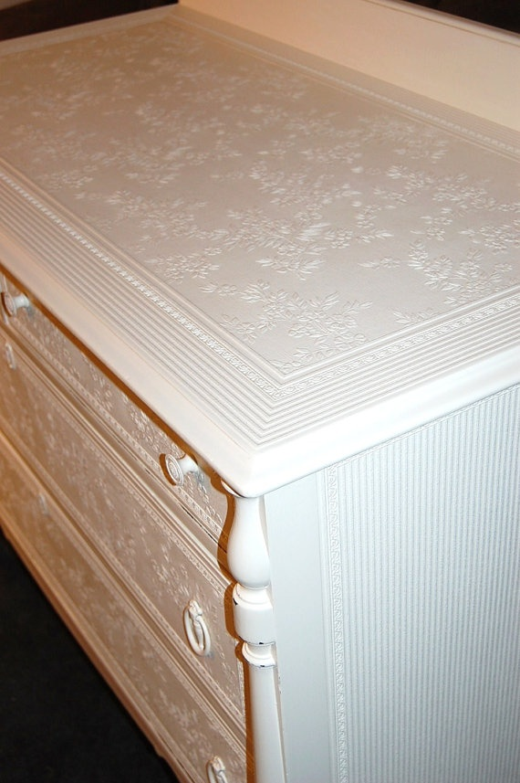 Charming  Cottage White  Spindled  Dresser/ by Daniscustomdesigns, 3 of 4