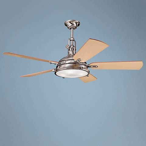 "56"" Kichler Hatteras Bay Brushed Stainless Steel Ceiling Fan"