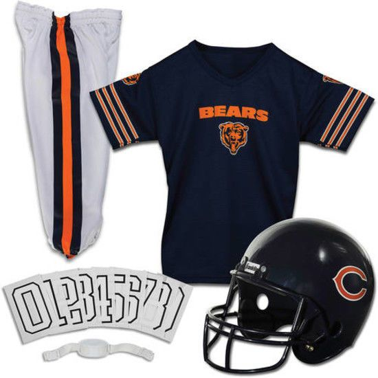 2952197e3 Chicago Bears Jersey Youth Uniform Set NFL Football Helmet Kids Costume  Small  FranklinSports  ChicagoBears
