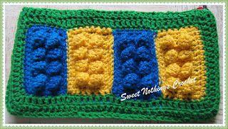 Sweet Nothings Crochet: MY CROCHET LEGO BRICKS BAG