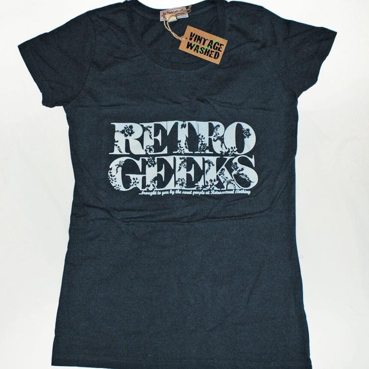 Women's vintage wash t-shirt http://www.badsheepboutique.com/retro-geeks-vintage-wash-t-shirt-182-p.asp