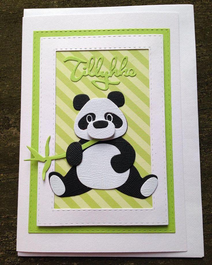 Kort til en 10 årig der får medlemsskab til Pandaklubben i fødselsdagsgave. #kort #card #panda #mariannedesign #bestilling  #selvgjortervelgjort