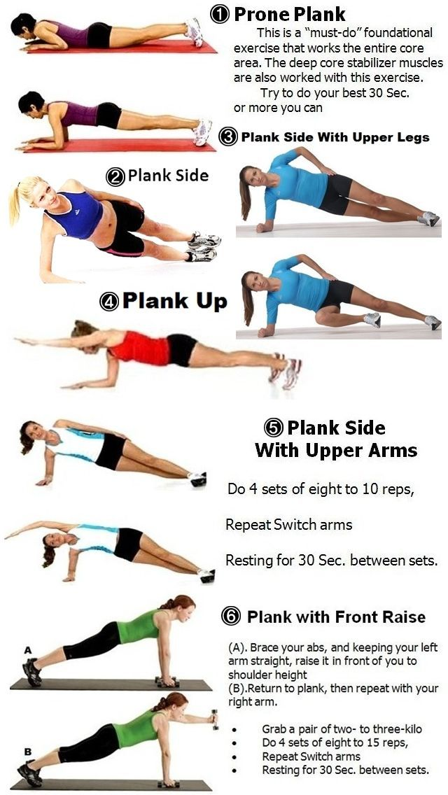 plank variations, weekend fit tips and fab list, fitness ...