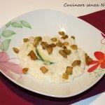 #Risotto di #melanzane e #zucchine in crema di #ricotta #nichelfree