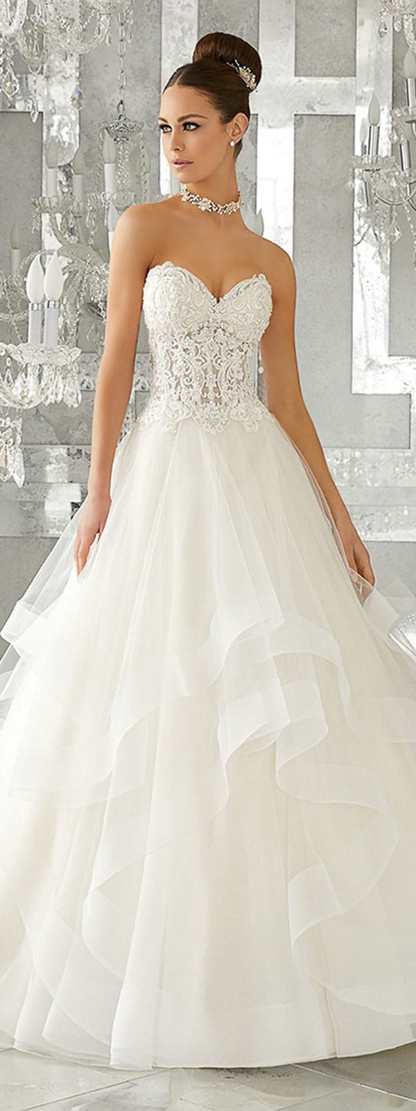 Amazing Tulle Sweetheart Neckline See-through A-Line Wedding Dresses With Beaded Lace Appliques