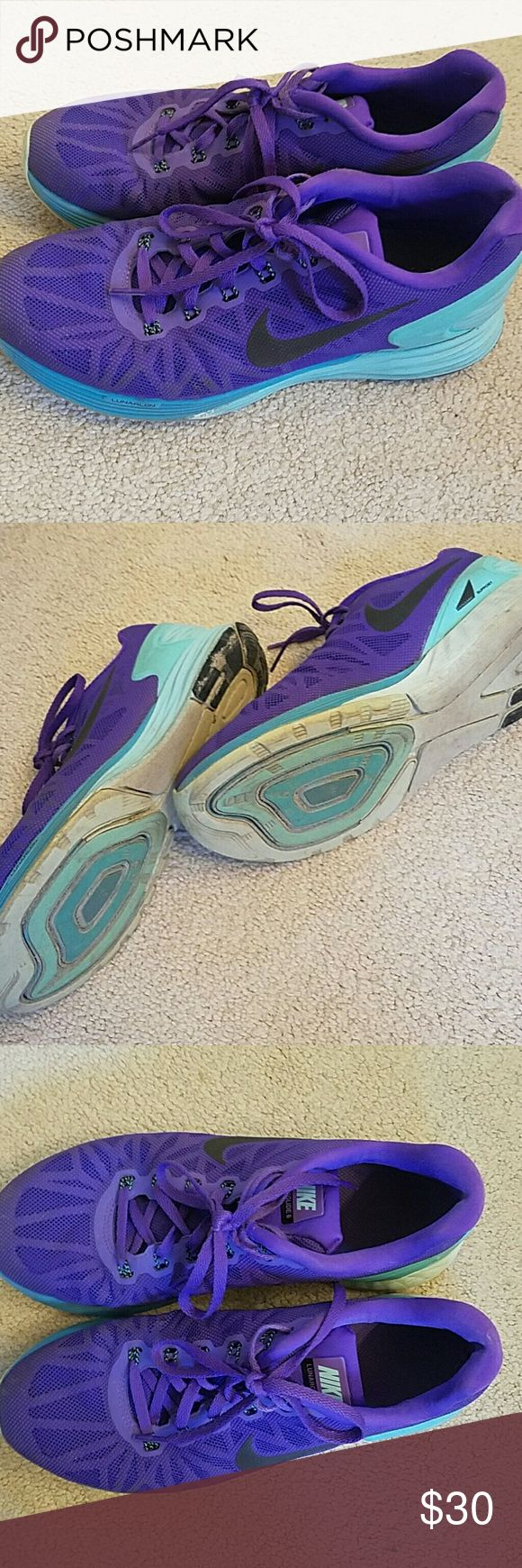 Nike Lunar glide Workout Shoes Used condition but still cute Nike Shoes Athletic Shoes